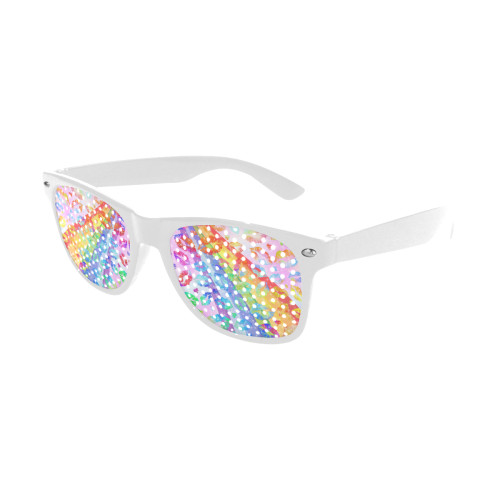 Women Sexy Hot Lips Comic - Rainbow Pop Art 2 Custom Goggles (Perforated Lenses)