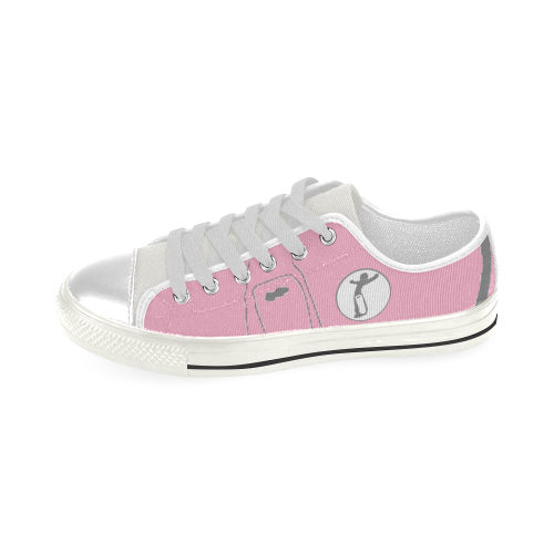 Kid DW Pink Low Top Canvas Shoes for Kid (Model 018)