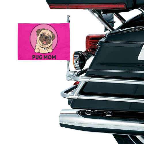 Pug Mom Motorcycle Flag (Twin Sides)