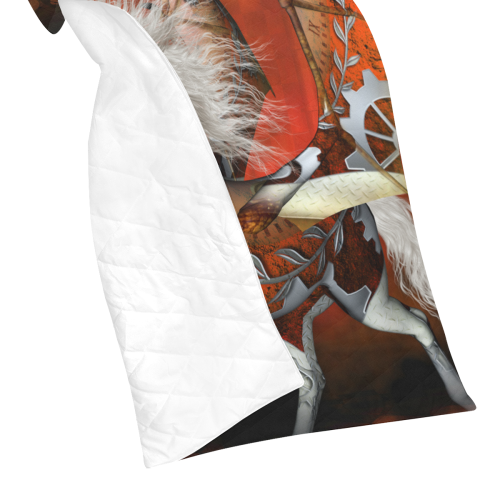 """Awesome steampunk horse with wings Quilt 60""""x70"""""""