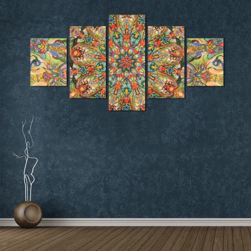 mandala 7 Canvas Wall Art Z (5 pieces)