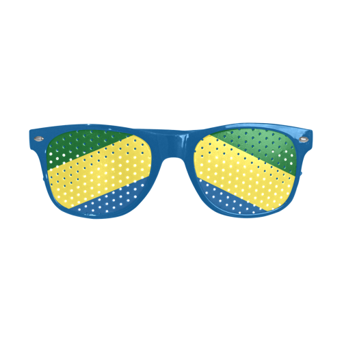Colors Of Brazil Flag Custom Goggles (Perforated Lenses)