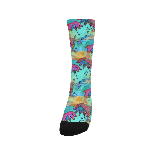 Dolphin Popart by Nico Bielow Trouser Socks (For Men)