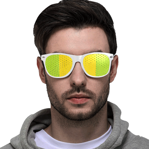 Only two Colors: Sun Yellow - Spring Green Custom Goggles (Perforated Lenses)