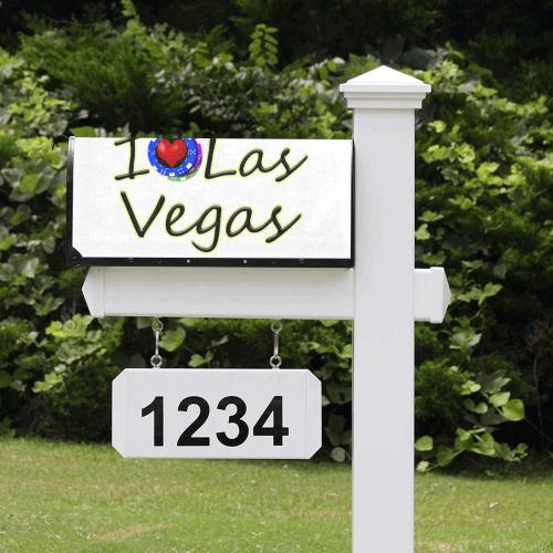 Las Vegas Love Poker Chips on White Mailbox Cover