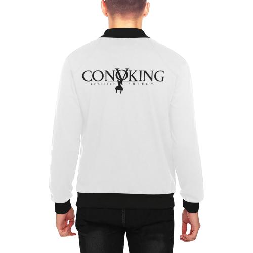 Convoking Positive Energy Men's All Over Print Baseball Jacket (Model H26)
