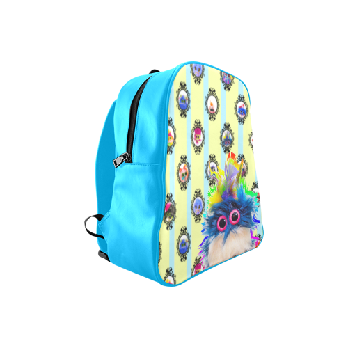 PopArt_Rhinestone School Backpack (Model 1601)(Medium)