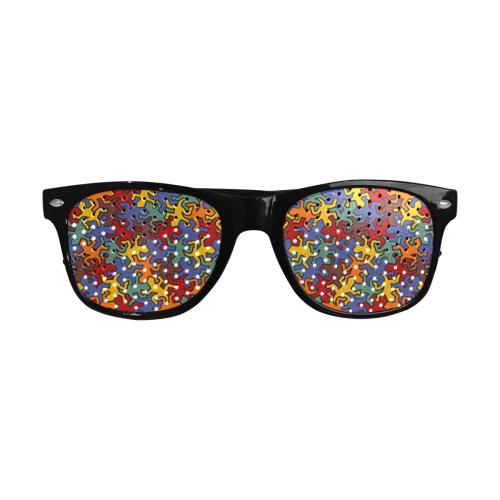 Gecko Reptiles Mosaic Bauhaus Pattern Custom Goggles (Perforated Lenses)