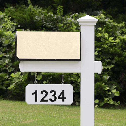 color blanched almond Mailbox Cover