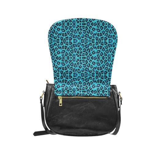 Blue Leopard Classic Saddle Bag/Large (Model 1648)
