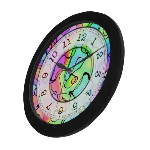Squirlie Clock Circular Plastic Wall clock