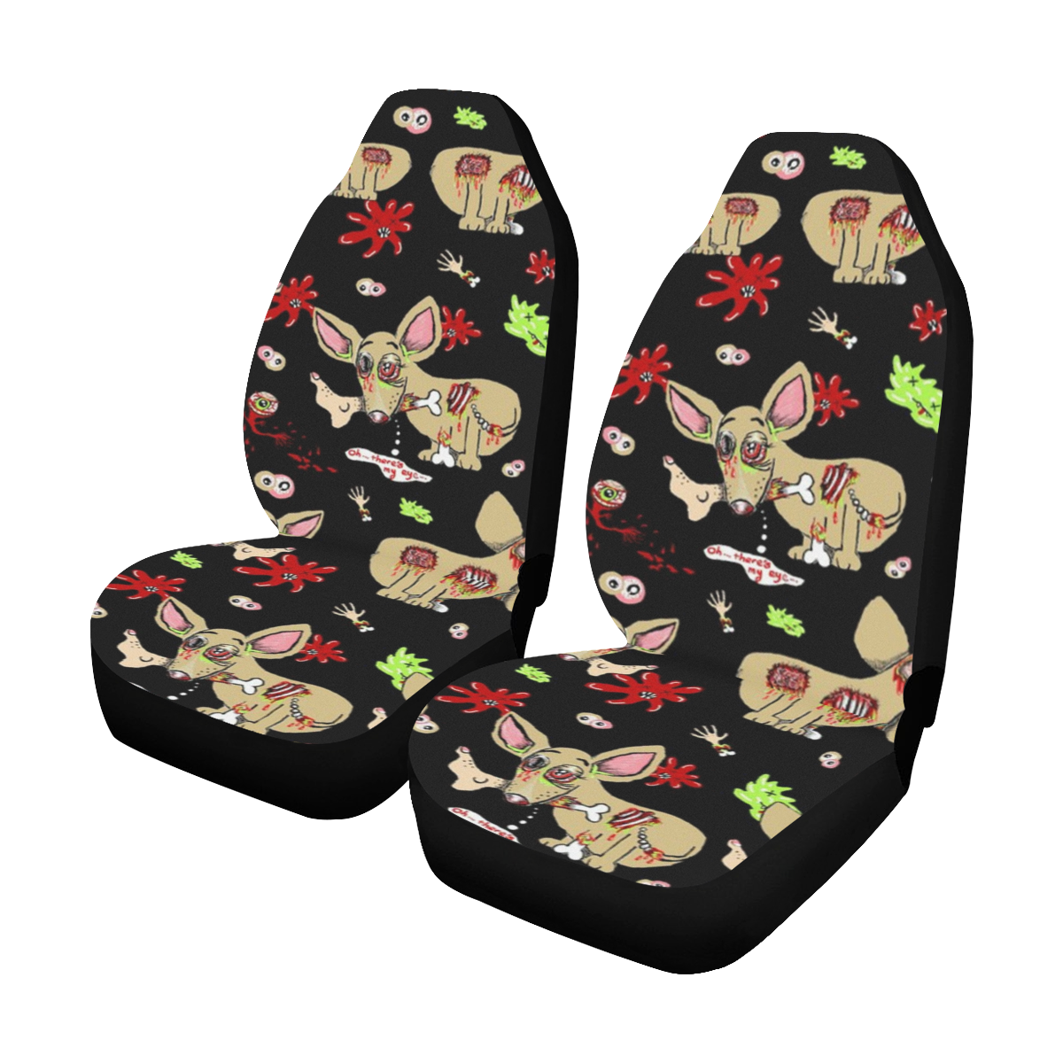 Zombie Chihuahua Car Seat Covers (Set