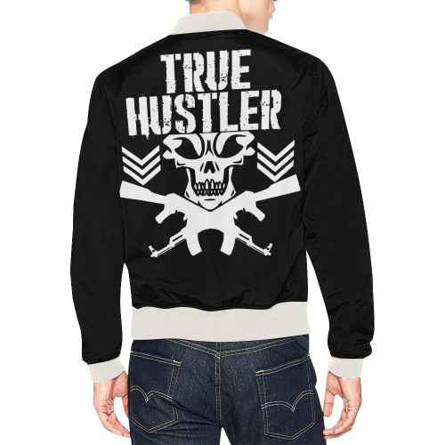 True Hustler BJacket All Over Print Bomber Jacket for Men/Large Size (Model H19)