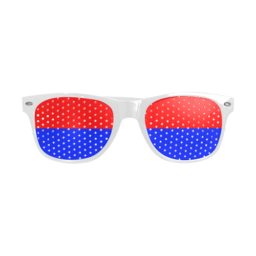 Only two Colors: Fire Red - Royal Blue Custom Goggles (Perforated Lenses)