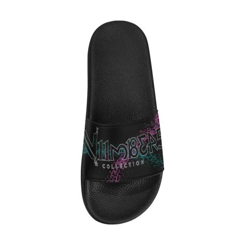 NUMBERS Collection Splash Logo Men's Slide Sandals (Model 057)