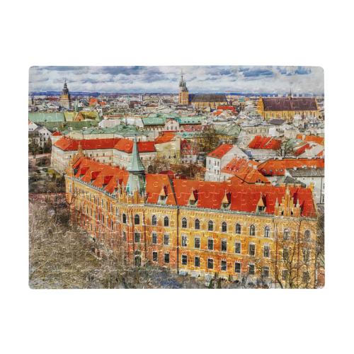 Cracow Krakow city art A3 Size Jigsaw Puzzle (Set of 252 Pieces)