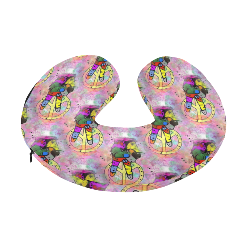 Peace by Nico Bielow U-Shape Travel Pillow