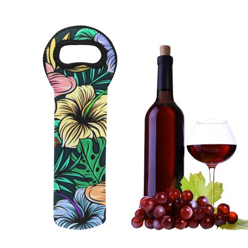 Hibiscus Dream Neoprene Wine Bag