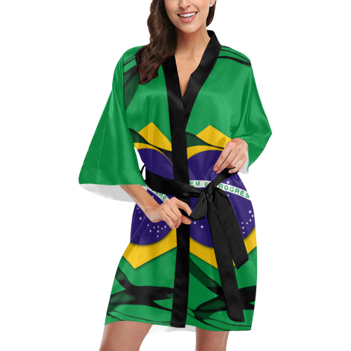The Flag of Brazil Kimono Robe
