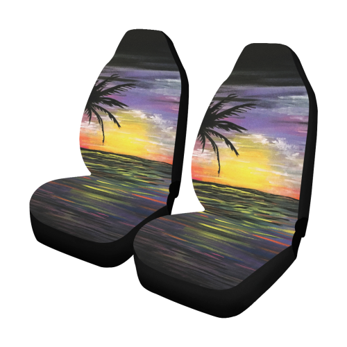 Sunset Sea Car Seat Covers (Set of 2)