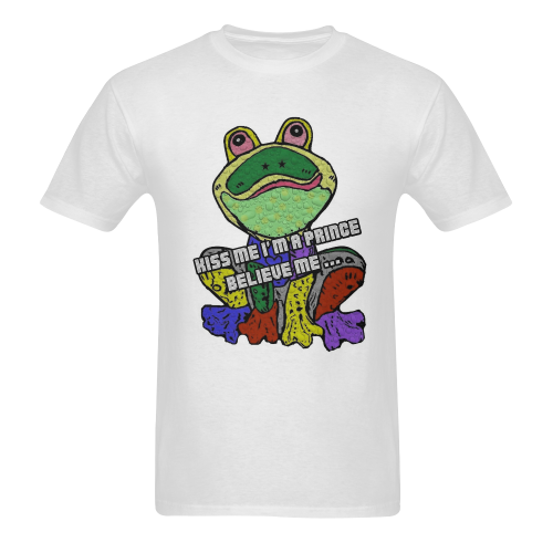 Kiss Me Frog by Nico Bielow Men's T-shirt in USA Size (Two Sides Printing) (Model T02)