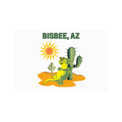 "Bisbee, Arizona Doormat 24""x16"""