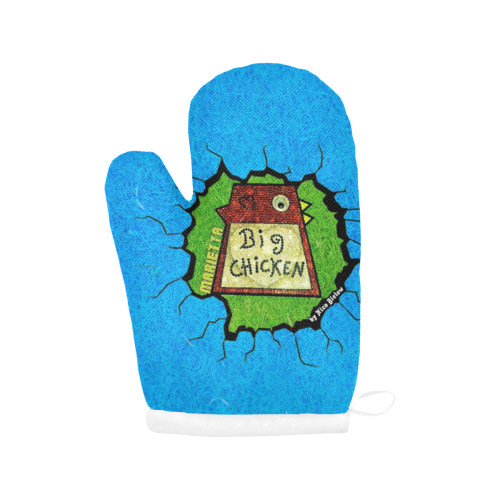 Chicken by Nico Bielow Oven Mitt (Two Pieces)