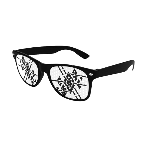 Black Geometric Art Stripes Triangles Rhombuses Custom Goggles (Perforated Lenses)