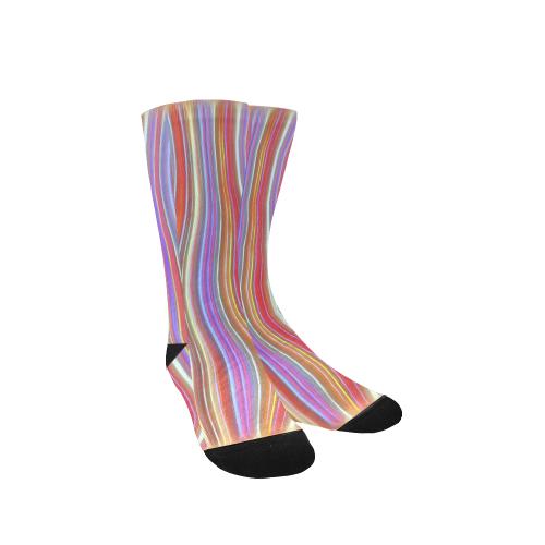 Wild Wavy Lines I Custom Socks for Women