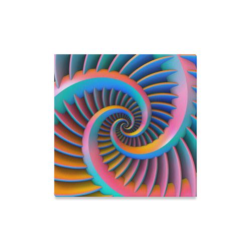 """Opposing Spirals Canvas Print 16""""x16"""""""