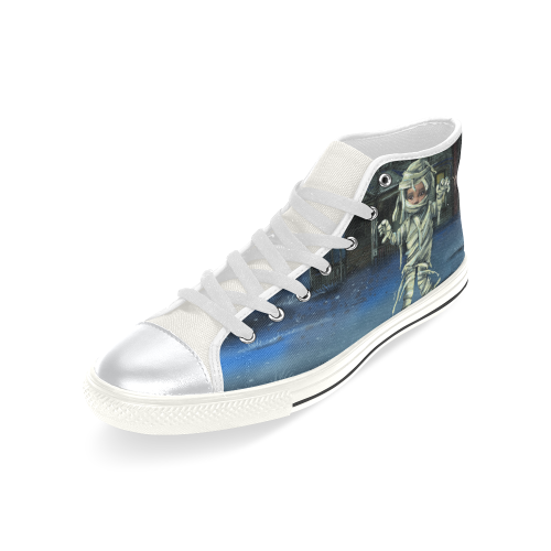 Trick or Treat Shoes High Top Canvas Shoes for Kid (Model 017)