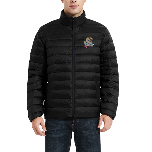 TRAP LIFE Men's Stand Collar Padded Jacket (Model H41)