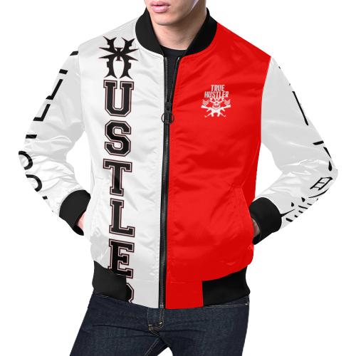 True Hustler Legacy All Over Print Bomber Jacket for Men/Large Size (Model H19)