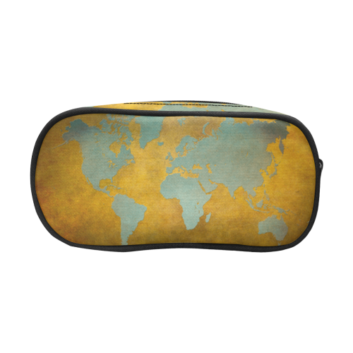 world map #map #worldmap Pencil Pouch/Large (Model 1680)