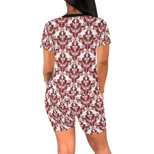 vintage pattern 916C Women's Short Yoga Set (Sets 03)