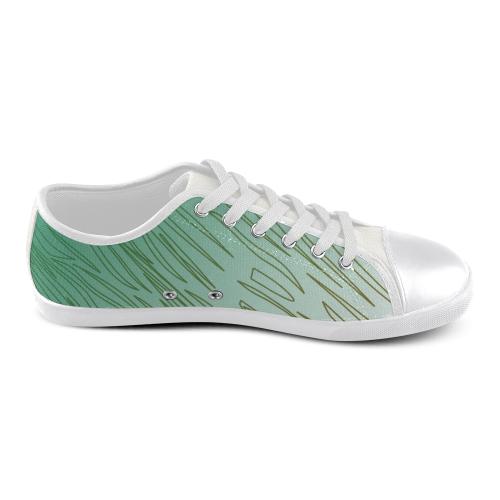 Leguan, wild ethnic shoes Men's Canvas Shoes (Model 016)