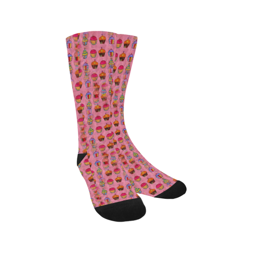 Cupcake Popart by Nico Bielow Trouser Socks (For Men)