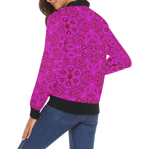 oriental Pattern 7 by JamColors All Over Print Bomber Jacket for Women (Model H19)