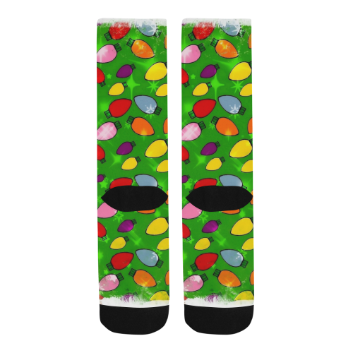 Bulb Christmas by Nico Bielow Trouser Socks (For Men)