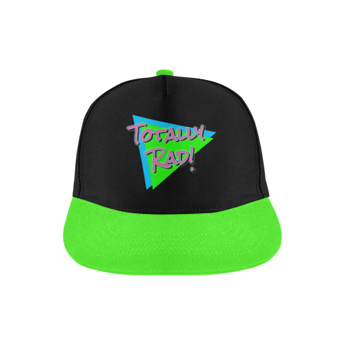 Totally Rad 80s All Over Print Snapback Hat A