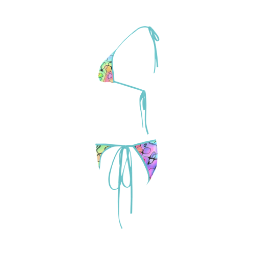 Squirlie 7K Teal Custom Bikini Swimsuit