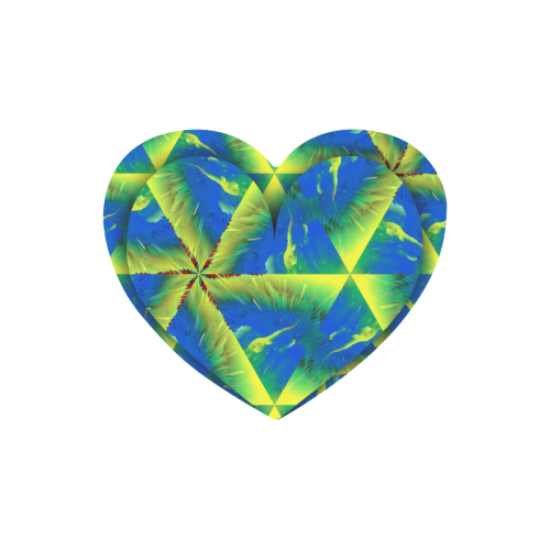 HeartBlueGreen Heart-shaped Mousepad
