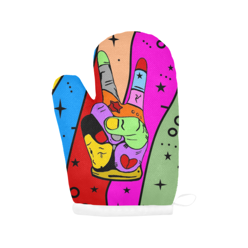 Peace by Nico Bielow Oven Mitt (Two Pieces)