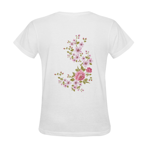 Pure Nature - Summer Of Pink Roses 1 Women's T-Shirt in USA Size (Two Sides Printing)
