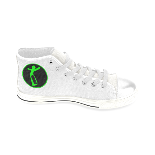 DW wht green remix Men's Classic High Top Canvas Shoes (Model 017)
