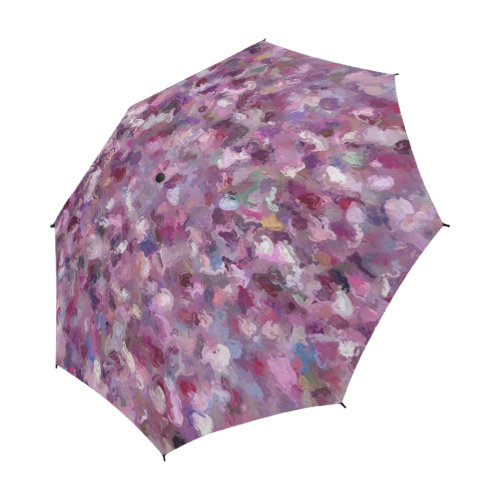 Autumn Leaves and Berries on a rainy day 9889 Semi-Automatic Foldable Umbrella (Model U05)