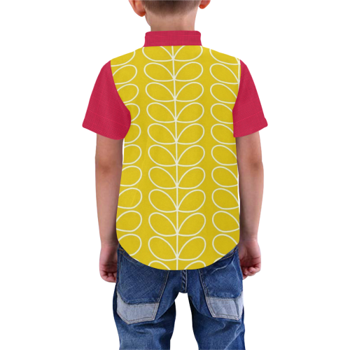 Red Yellow Mod Casual Boys' All Over Print Short Sleeve Shirt (Model T59)
