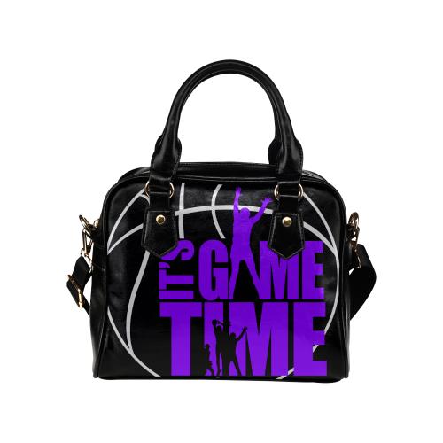 Its Game Time - Purple Shoulder Handbag (Model 1634)