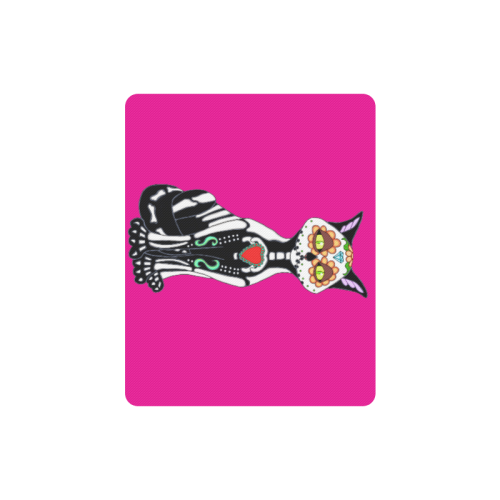 Sugar Skull Cat Pink Rectangle Mousepad