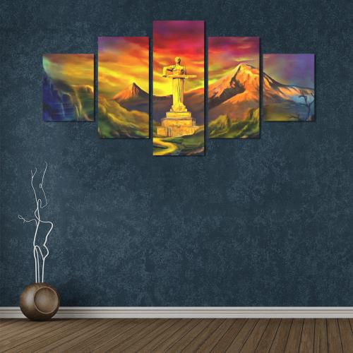 Mother Armenia Մայր Հայաստան Canvas Wall Art Z (5 pieces)